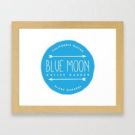 Blue Moon Native Garden Framed Art Print
