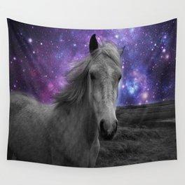 Horse Rides & Galaxy skies Wall Tapestry