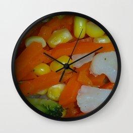 Summer Vegetables Wall Clock