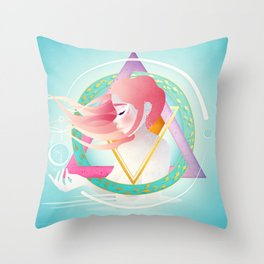 Zodiac Geometry :: Pisces Throw Pillow