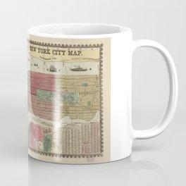 Miller's Map of the City of New York (1862) Coffee Mug