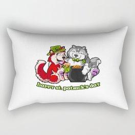 Husky and Malamute Pot O'Gold Rectangular Pillow