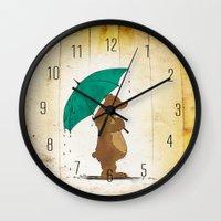 wildlife Wall Clocks featuring Wildlife by AhaC