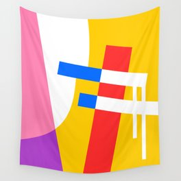 The Power Pole Abstract Illustration Wall Tapestry