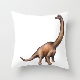 Realistic watercolor dinosaur Throw Pillow