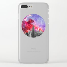 NEBULA NEW YORK Clear iPhone Case