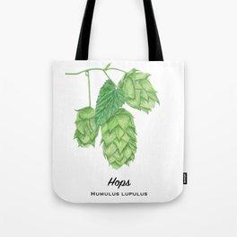 Beer Hops Botanical Painting Tote Bag