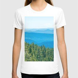 Artistic Brush // Grainy Scenic View of Rolling Hills Mountains Forest Landscape Photography T-shirt