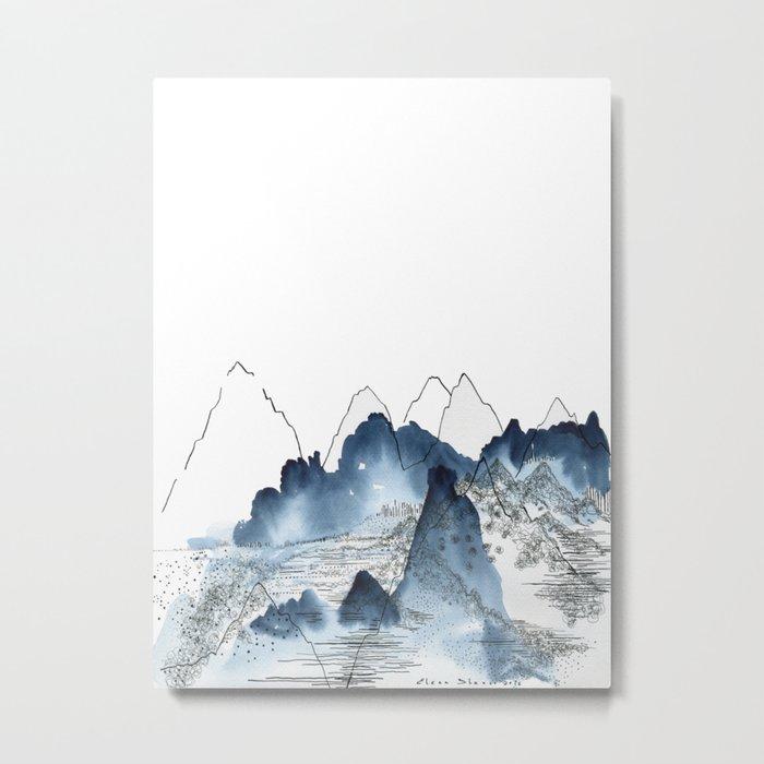 Love of Mountains Metal Print