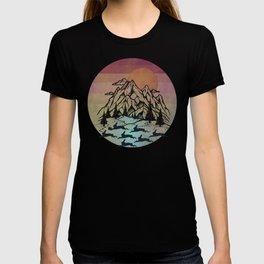 Bunny Herd At Sunset T-shirt