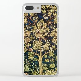 William Morris Tree Of Life Clear iPhone Case