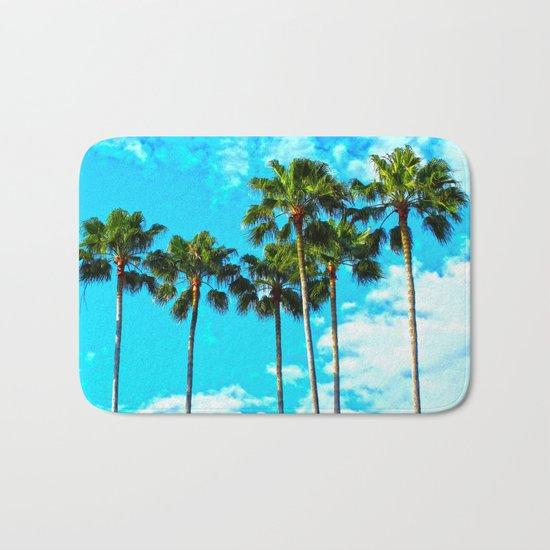 Tropical Palm Trees Bath Mat