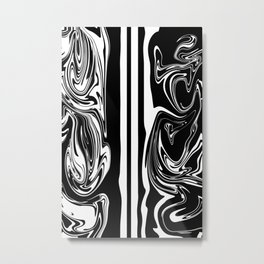 Stripes, distorted 5 Metal Print