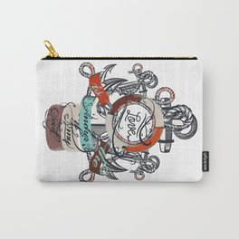 Beautiful marine design, vacation theme with anchor Carry-All Pouch