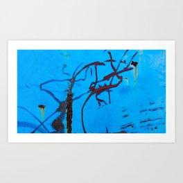 Azure Coarse Art Print
