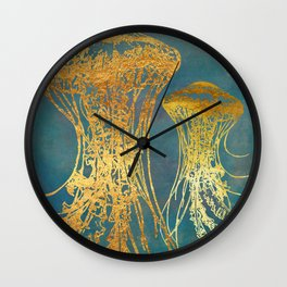 Deep Sea Life Jellyfish Wall Clock