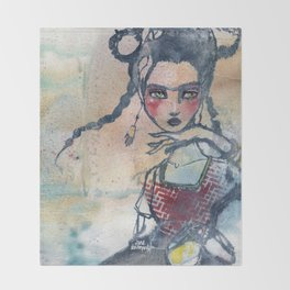 Frida is an Emotion by Jane Davenport Throw Blanket