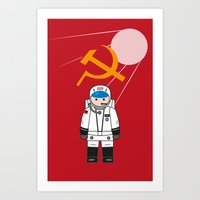 soviet Art Prints featuring SOVIET by OSCAR GBP