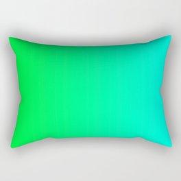 Green and Sky-Blue - Cyan Gradient 012 Rectangular Pillow