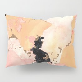 Calming Coral and Yellow Pillow Sham