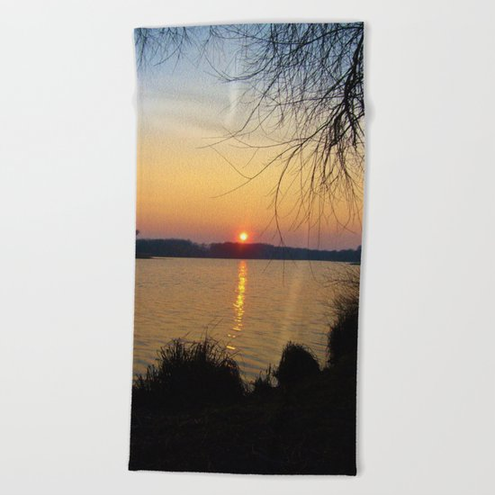Sunset 1 Photography Beach Towel