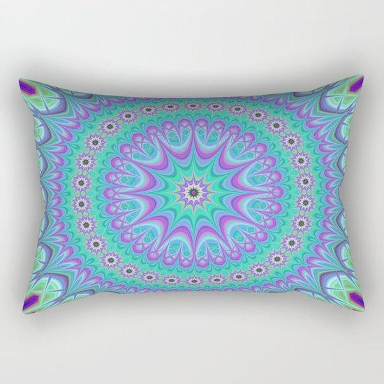 Explosive mandala ball Rectangular Pillow