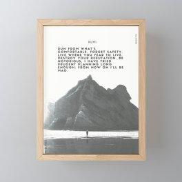 Rumi 2 - Be Free Framed Mini Art Print