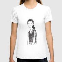 lace T-shirts featuring Lace by jeehyekim