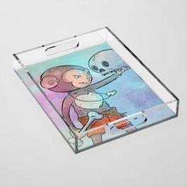 Monkey Pirate Acrylic Tray