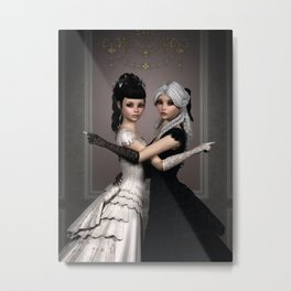 Beautiful Ladies and a difficult choice Metal Print