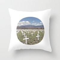 cross Throw Pillows featuring CROSS  by natalie sales