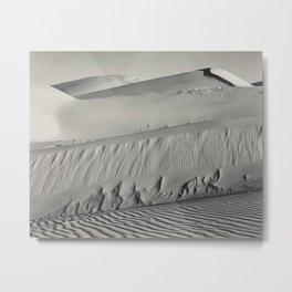 Windblown Desert Dunes portrait black and white photograph / art photography by Edward Weston Metal Print