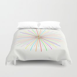 Strands Of Light - Defraction Pattern Duvet Cover
