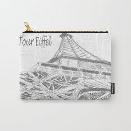 La Tour Eiffel en Blanc Carry-All Pouch