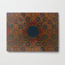 Islamic Geometry Orientalist Middle eastern Arabian Persian Vintage Style Moroccan Rugs Metal Print
