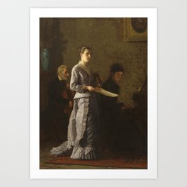 Singing a Pathetic Song Oil Painting by Thomas Eakins Art Print