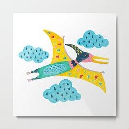 pterodactyl flying high in the sky Metal Print