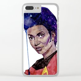 Lieutenant Uhura Clear iPhone Case
