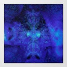 Tibet. Blue Meditation Canvas Print