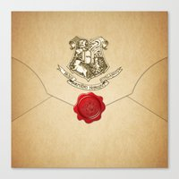 shrek Canvas Prints featuring HARRY POTTER ENVELOPE by Sophie