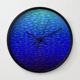 Sharks In Deep Water. Wall Clock