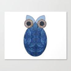 The Denim Owl Canvas Print