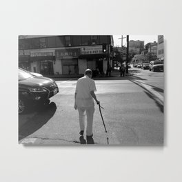 Walk This Way | Monochrome Metal Print
