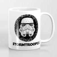 stormtrooper Mugs featuring stormtrooper by Tarik Ali Sert