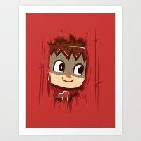 Heeeeere's..... the Villager! Art Print