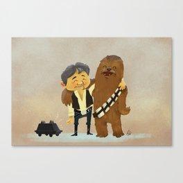 Han & Chewie BFFs Canvas Print