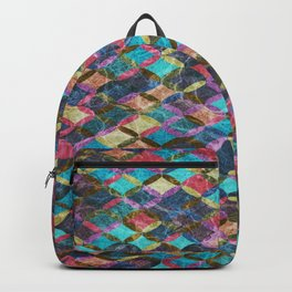 Colorful Geometric Pattern #08 Backpack