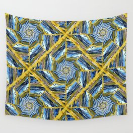 golden day kaleidoscope pattern Wall Tapestry