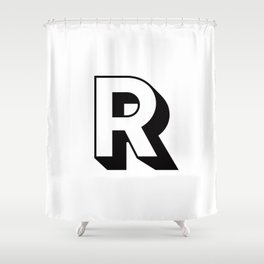 Letter R ... As Easy As ... Shower Curtain