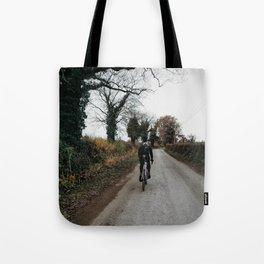Winter road cycling Tote Bag